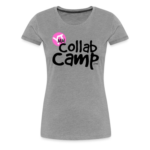 COLLAB CAMP T PINK K png - Women's Premium T-Shirt