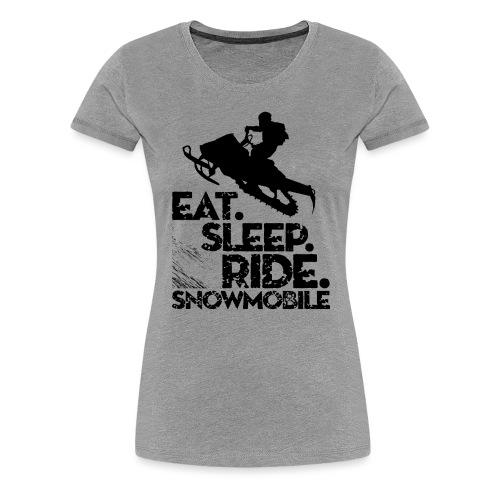 Snowmobiling Eat Sleep - Women's Premium T-Shirt