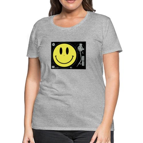 Smiley Turntable - Women's Premium T-Shirt