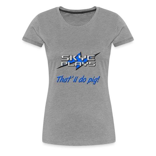 Skye Plays TDP Blue 800ppi png - Women's Premium T-Shirt