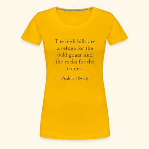 High Hills KJV - Women's Premium T-Shirt