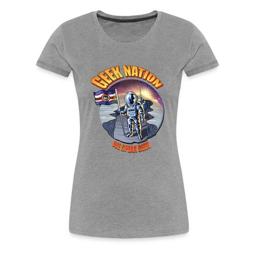 Geek Nation Sun shining - Computer Resolution - Women's Premium T-Shirt