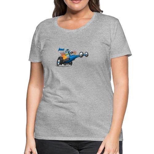 Top Fuel Dragster Cartoon - Women's Premium T-Shirt