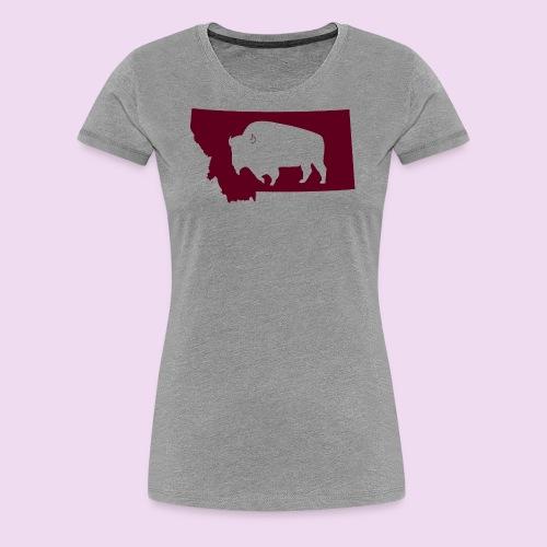 Bison Montana - Women's Premium T-Shirt