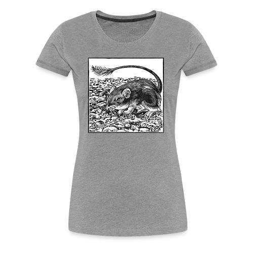 Pocket Mouse Linocut - Women's Premium T-Shirt