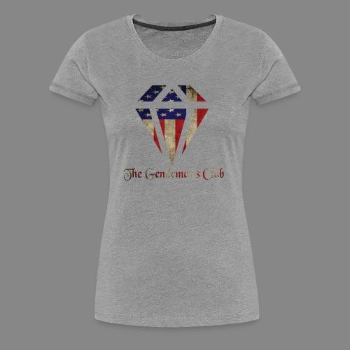 The Gentleman's American Flag - Women's Premium T-Shirt
