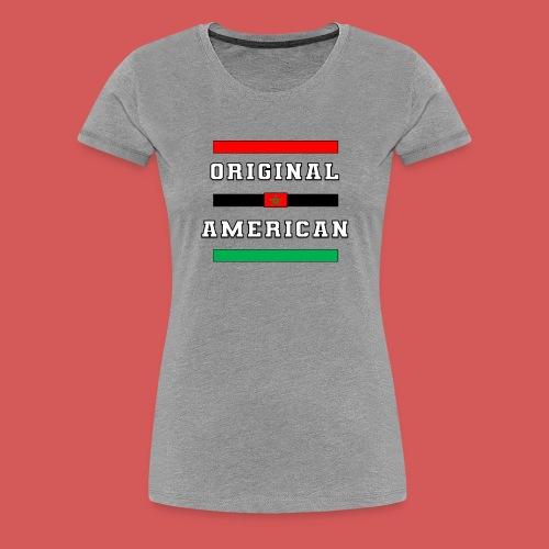 Original American Bars Moorish American Flag - Women's Premium T-Shirt