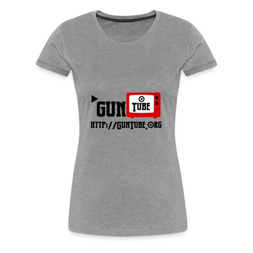 GunTube Shirt with URL - Women's Premium T-Shirt