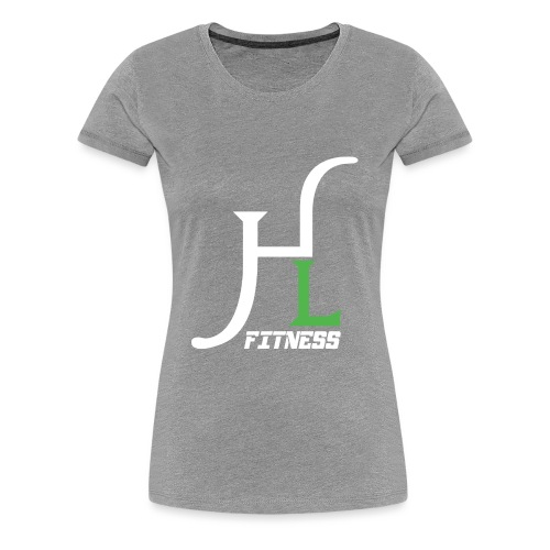 HIIT Life Fitness Logo White - Women's Premium T-Shirt