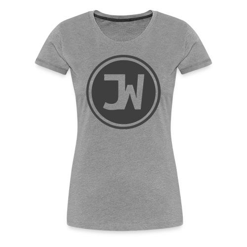 Grey Johannes With Logo - Women's Premium T-Shirt