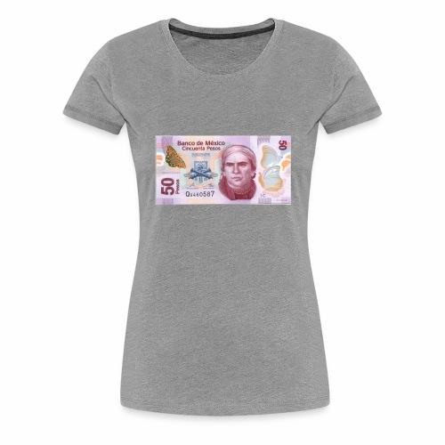 mexico 50 pesos jose maria morelos morelia aqu - Women's Premium T-Shirt