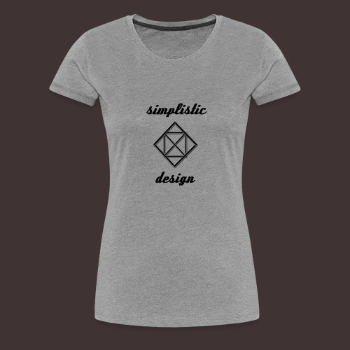 Simplistic Design Logo With Text - Women's Premium T-Shirt
