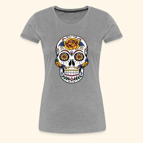 Men Women Flower Sugar Skull Shirt Day of the Dead - Women's Premium T-Shirt