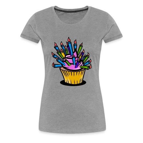 Funny birthday cupcake - Women's Premium T-Shirt