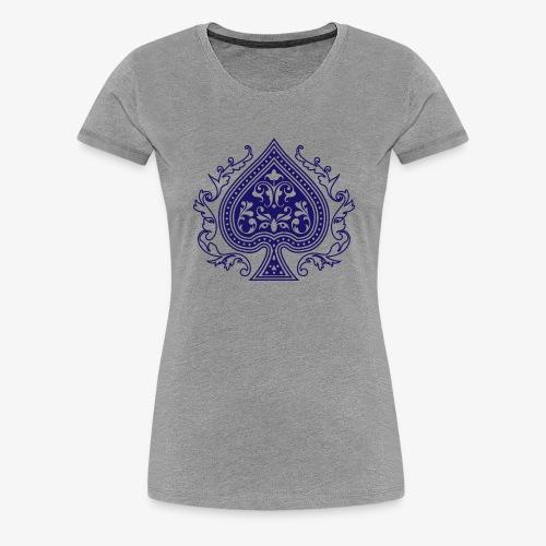 Ace Spade 02 Blue - Women's Premium T-Shirt