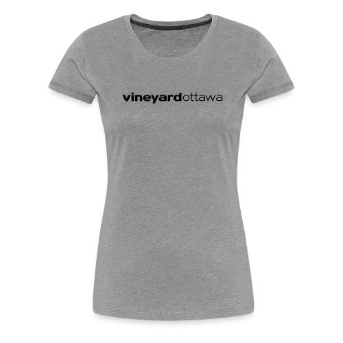 Vineyard Ottawa Logo blac - Women's Premium T-Shirt