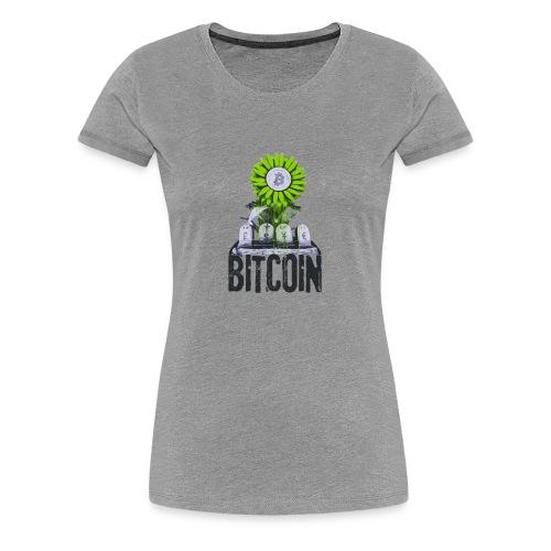 Bitcoin Banksy Street Art Tshirt - Women's Premium T-Shirt