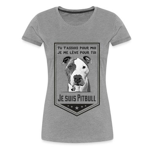 Je suis Pitbull - Women's Premium T-Shirt