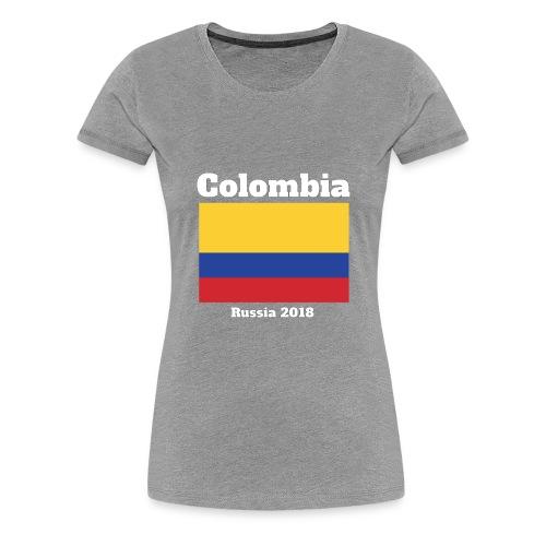 Colombia Football Team Flag design - Women's Premium T-Shirt
