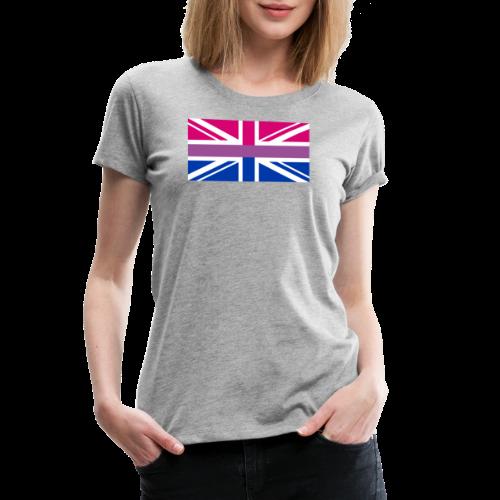 Gay Pride LGBT Bisexual Bi GB UK Union Jack Flag - Women's Premium T-Shirt