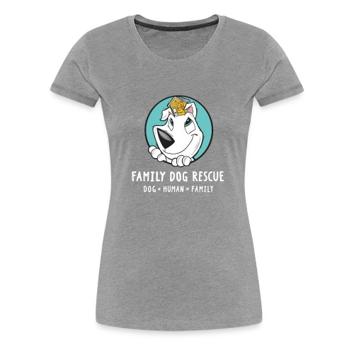 fdr logo (white tagline) - Women's Premium T-Shirt