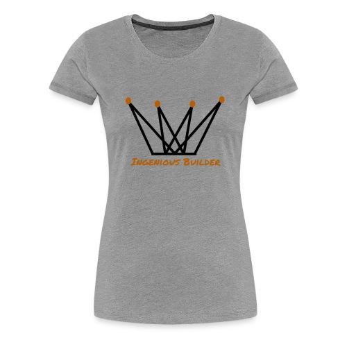 Ingenious Builder crown logo - Women's Premium T-Shirt