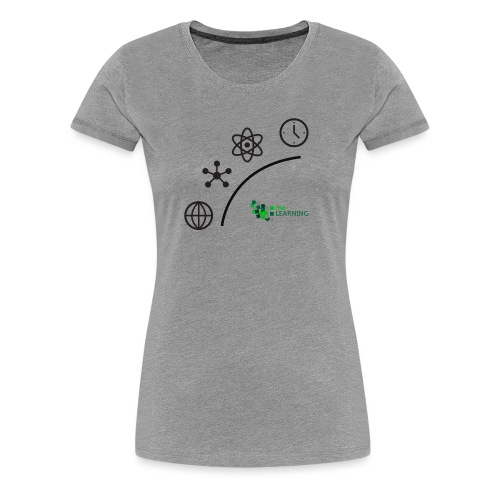 Matter Energy Space Time (Black) - Women's Premium T-Shirt