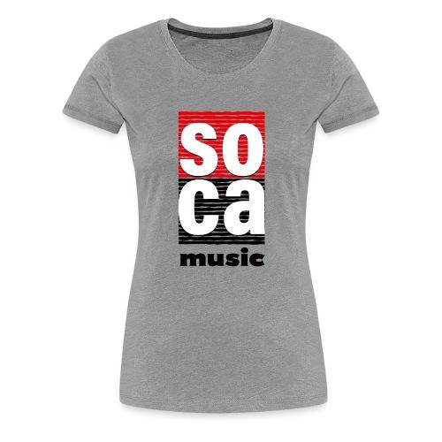 Soca music - Women's Premium T-Shirt