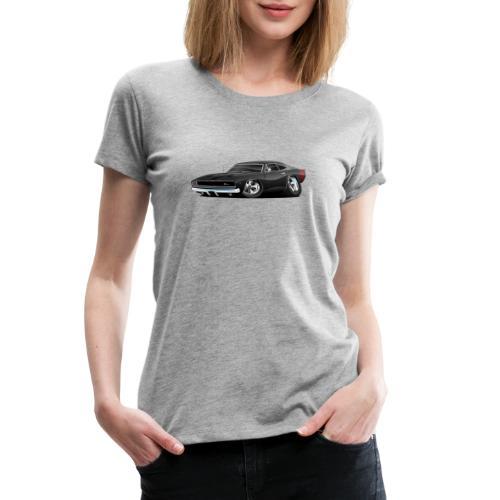Classic 60's American Muscle Car Cartoon - Women's Premium T-Shirt