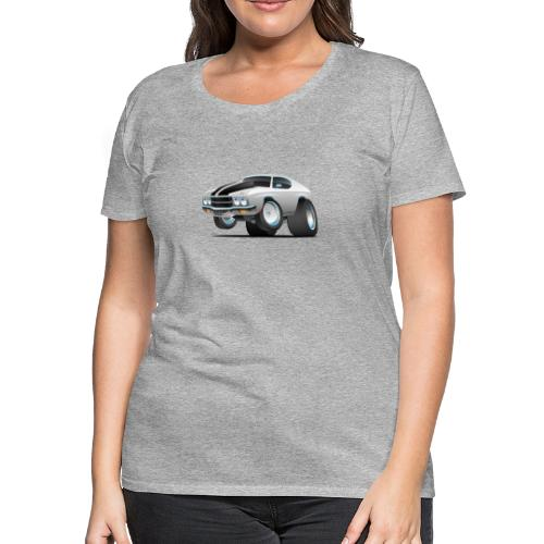 Classic 70's American Muscle Car Cartoon - Women's Premium T-Shirt
