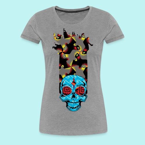 90s KID SKULLY - Women's Premium T-Shirt