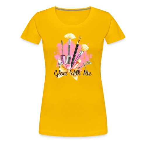 Glow With Me Makeup Logo - Women's Premium T-Shirt