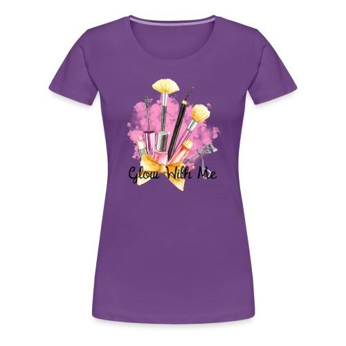 Glow With Me Makeup Logo - Women's Premium T-Shirt