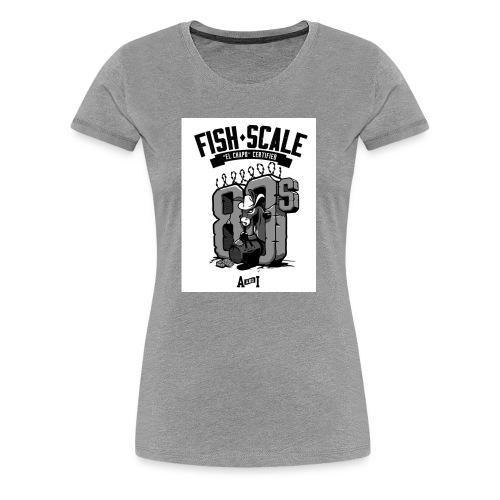 fish scale design - Women's Premium T-Shirt