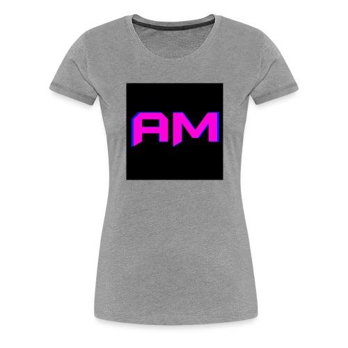 Pink, Blue, and black LOGO - Women's Premium T-Shirt