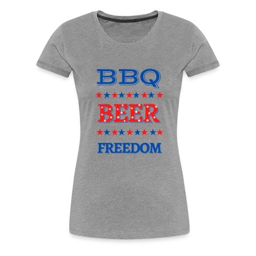 BBQ BEER FREEDOM - Women's Premium T-Shirt