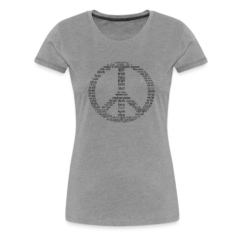 Peace Now - Women's Premium T-Shirt