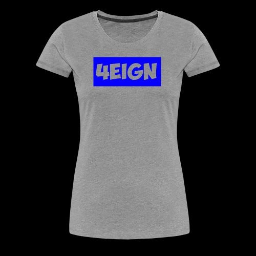 4eign logo BLUE - Women's Premium T-Shirt