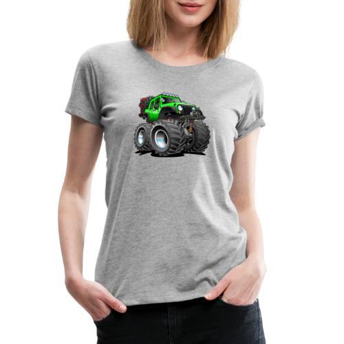 Off road 4x4 gecko green jeeper cartoon - Women's Premium T-Shirt