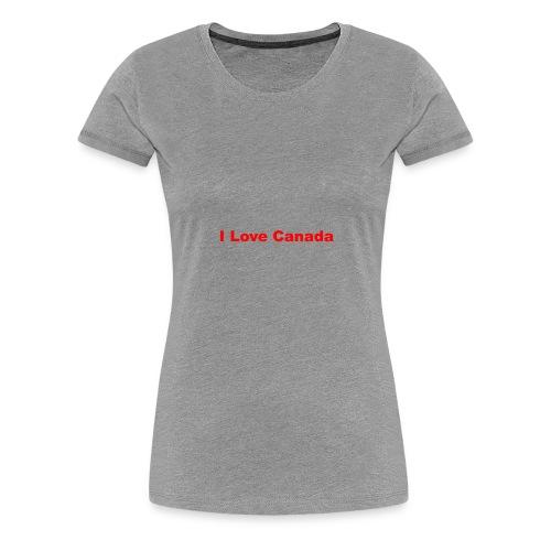 I Love Canada - Women's Premium T-Shirt