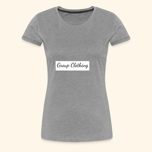 Cursive Black and White Hoodie - Women's Premium T-Shirt