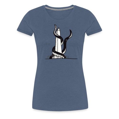 Tentacles on the Washington Monument - Women's Premium T-Shirt