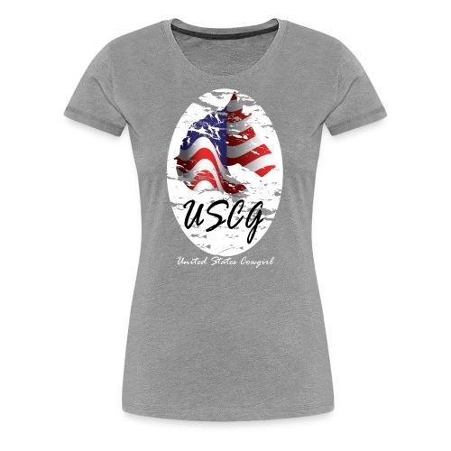 United States Cowgirl Shirts - Women's Premium T-Shirt