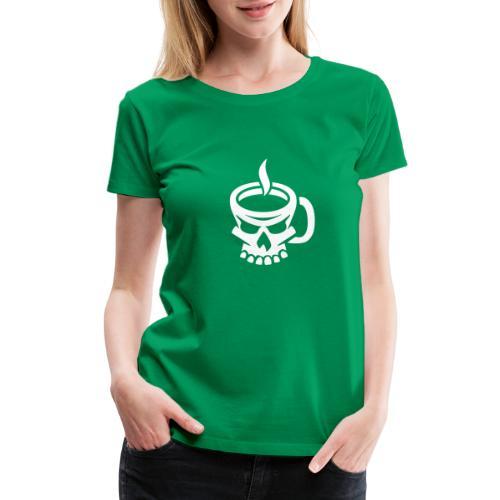 Caffeinated Coffee Skull - Women's Premium T-Shirt
