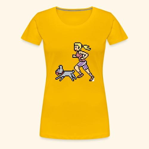 RunWithPixel - Women's Premium T-Shirt
