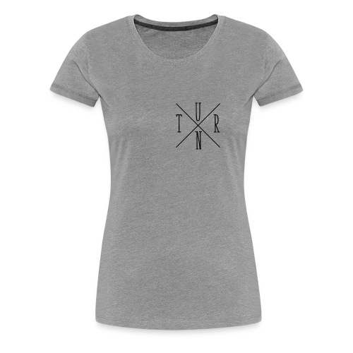 Turn Clothing Co logo black small cross marketplac - Women's Premium T-Shirt