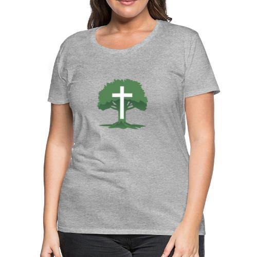 Christian Cross with Tree of Life - Women's Premium T-Shirt