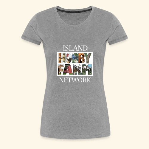 Island Hobby Farm White Logo - Women's Premium T-Shirt