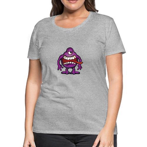 Cartoon Monster Alien - Women's Premium T-Shirt