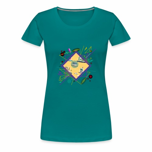 crypto clothing computer connecting - Women's Premium T-Shirt